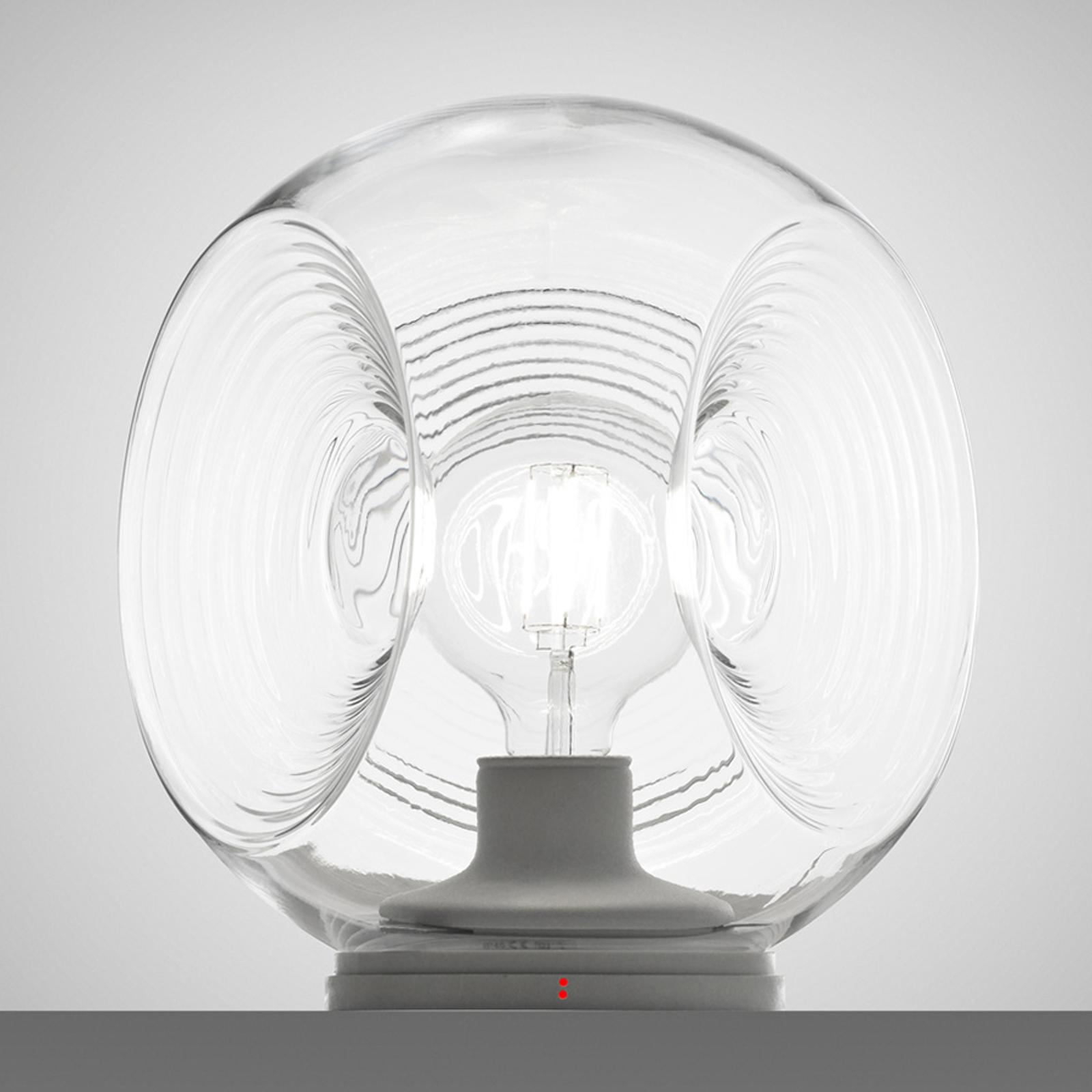 Fabbian Eyes - glas-bordslampa med klar diffusor