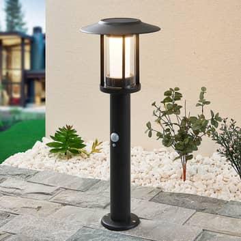 Lindby Volki lampioncino solare LED con sensore