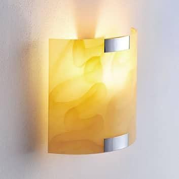 Quentin - lampada LED da parete color ambra