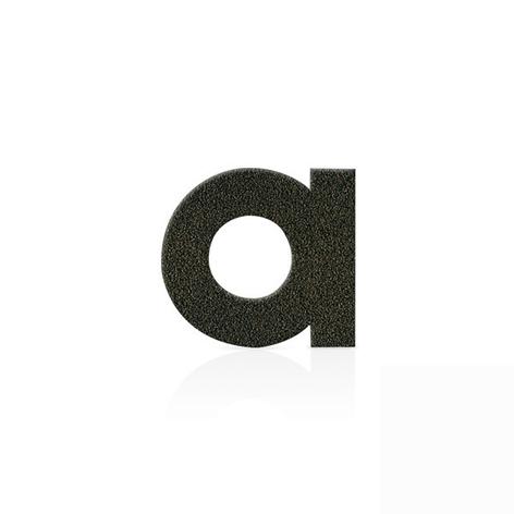 Mokkabruine huisnummers, letters en leestekens
