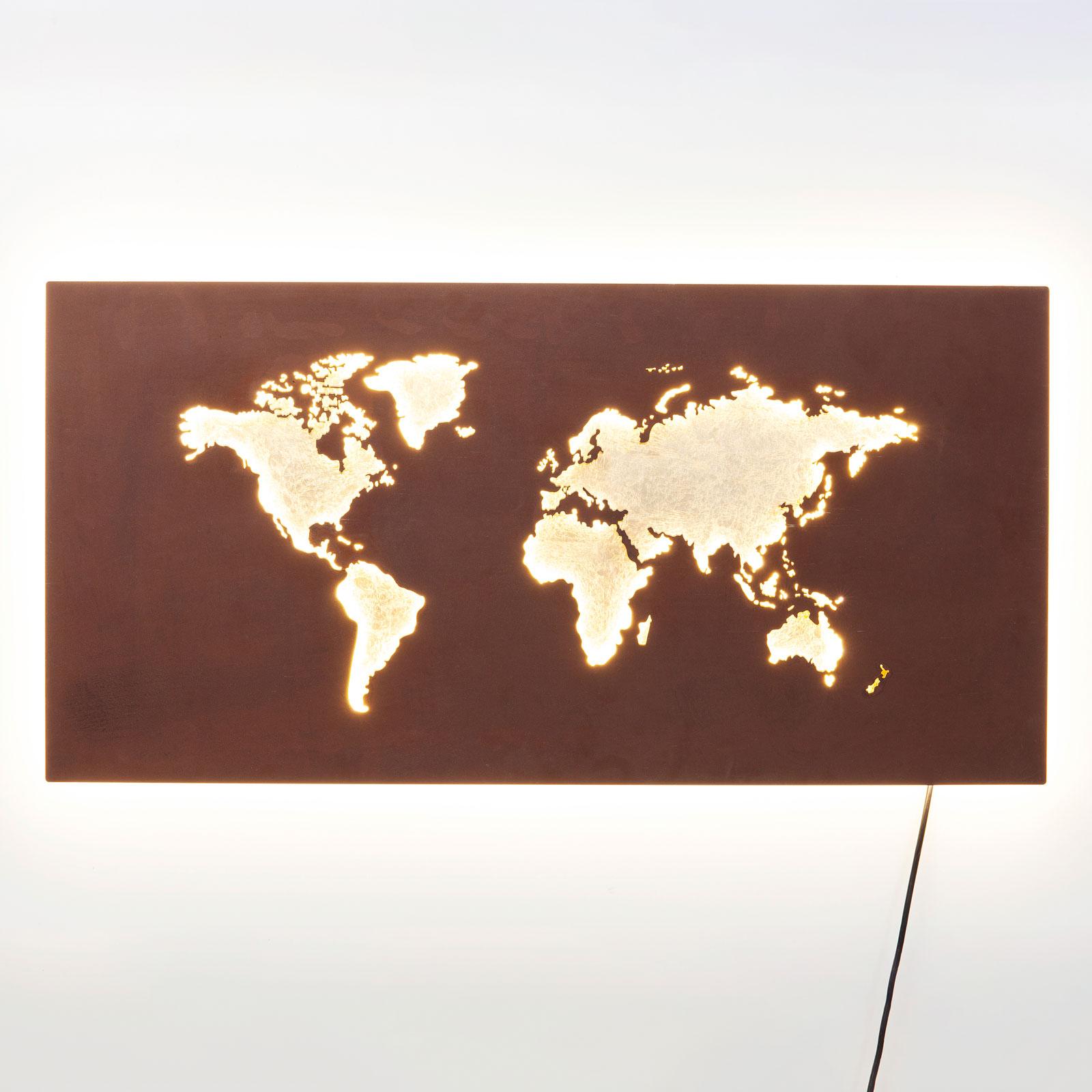 KARE Map LED-vegglampe med kabel og plugg