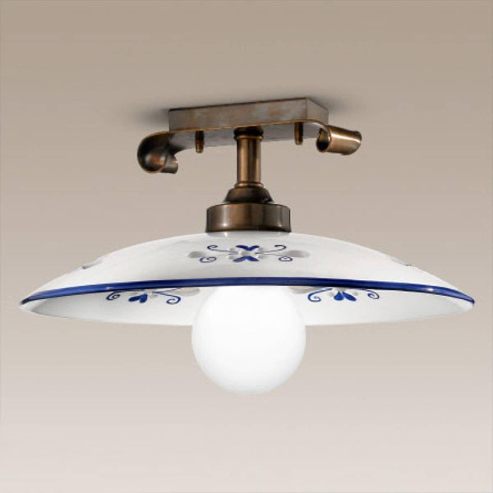 Fraaie plafondlamp Bassano blauw