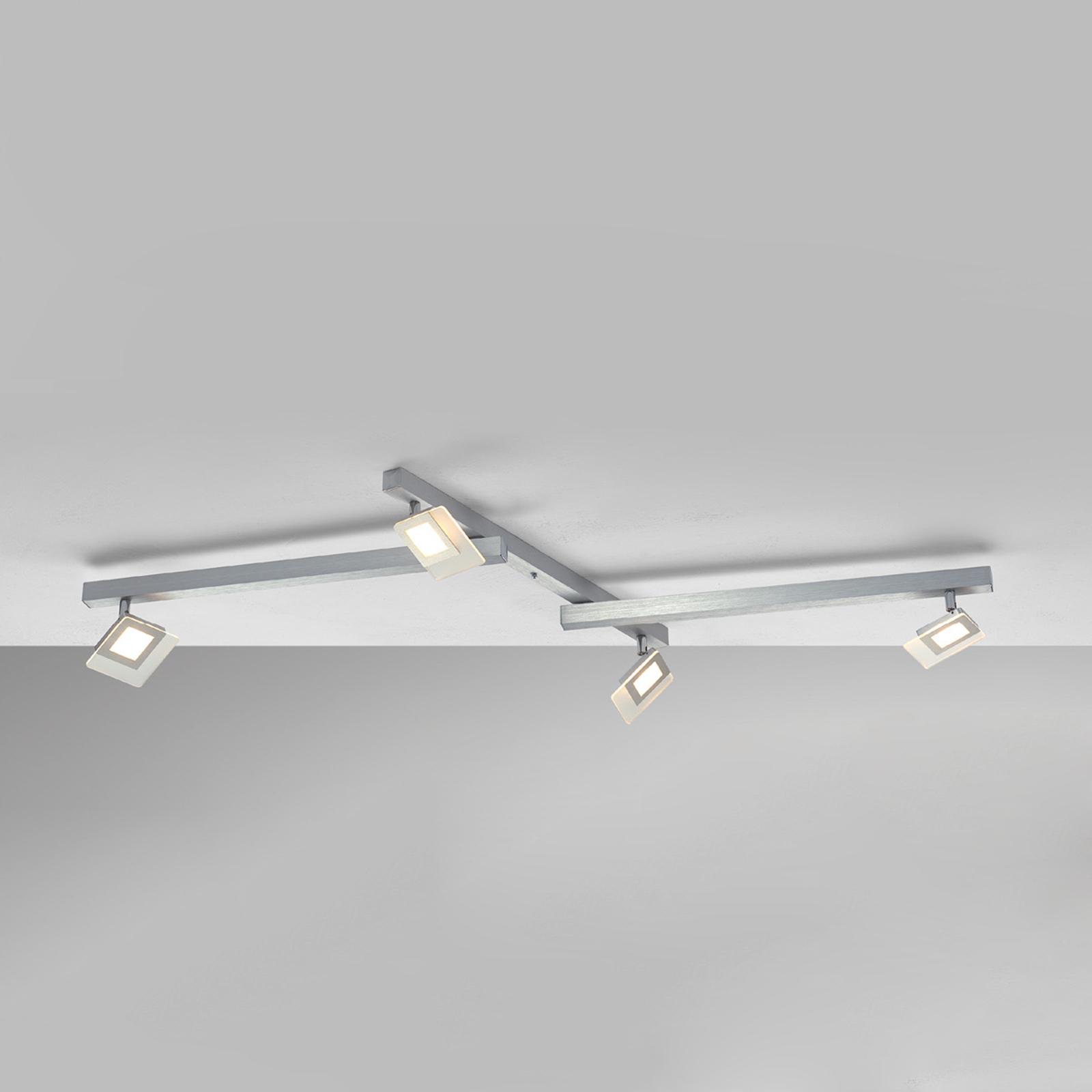 Esclusiva plafoniera LED Line, 4 punti luce