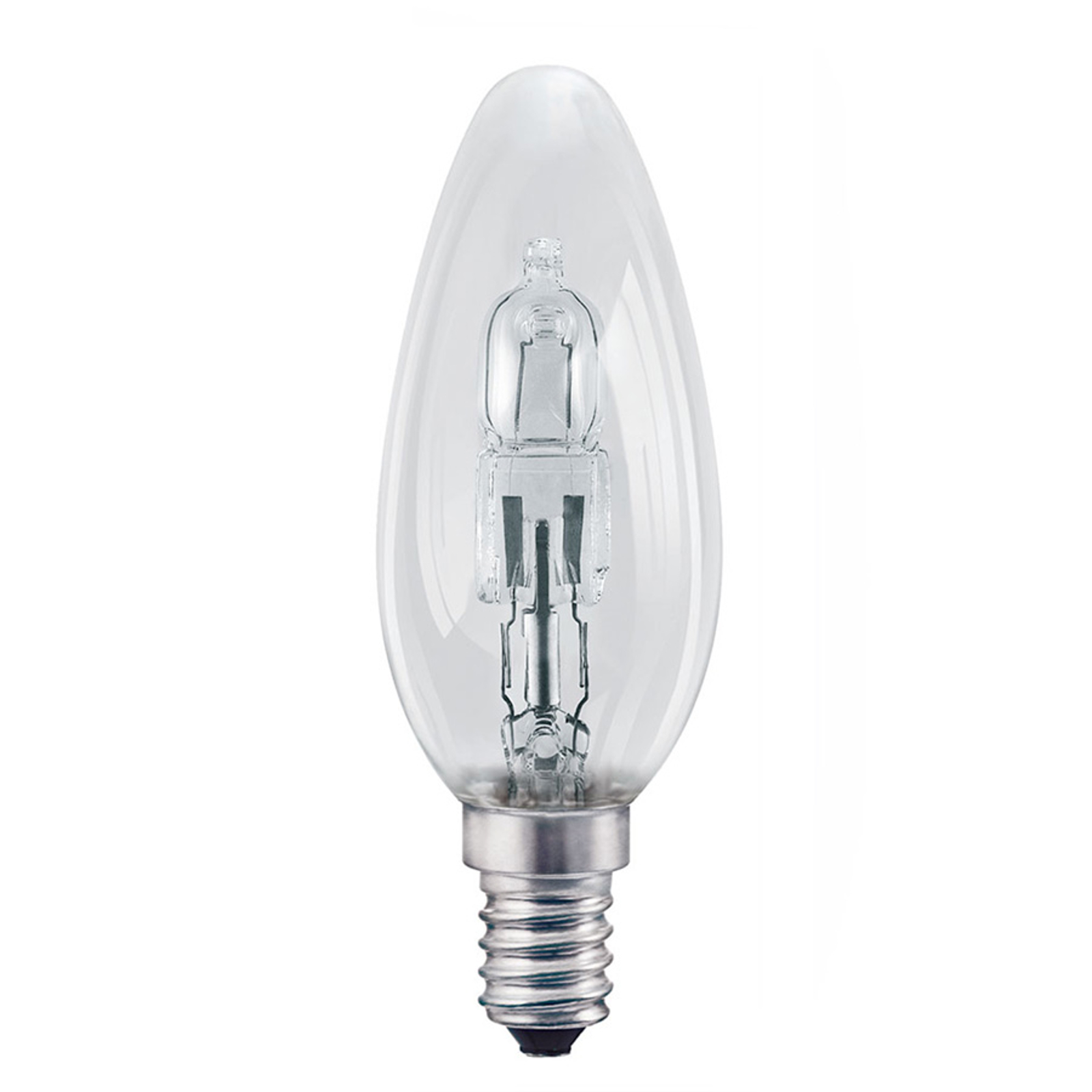 E14 46W klar Halogenlampe Classic B Kerzenform