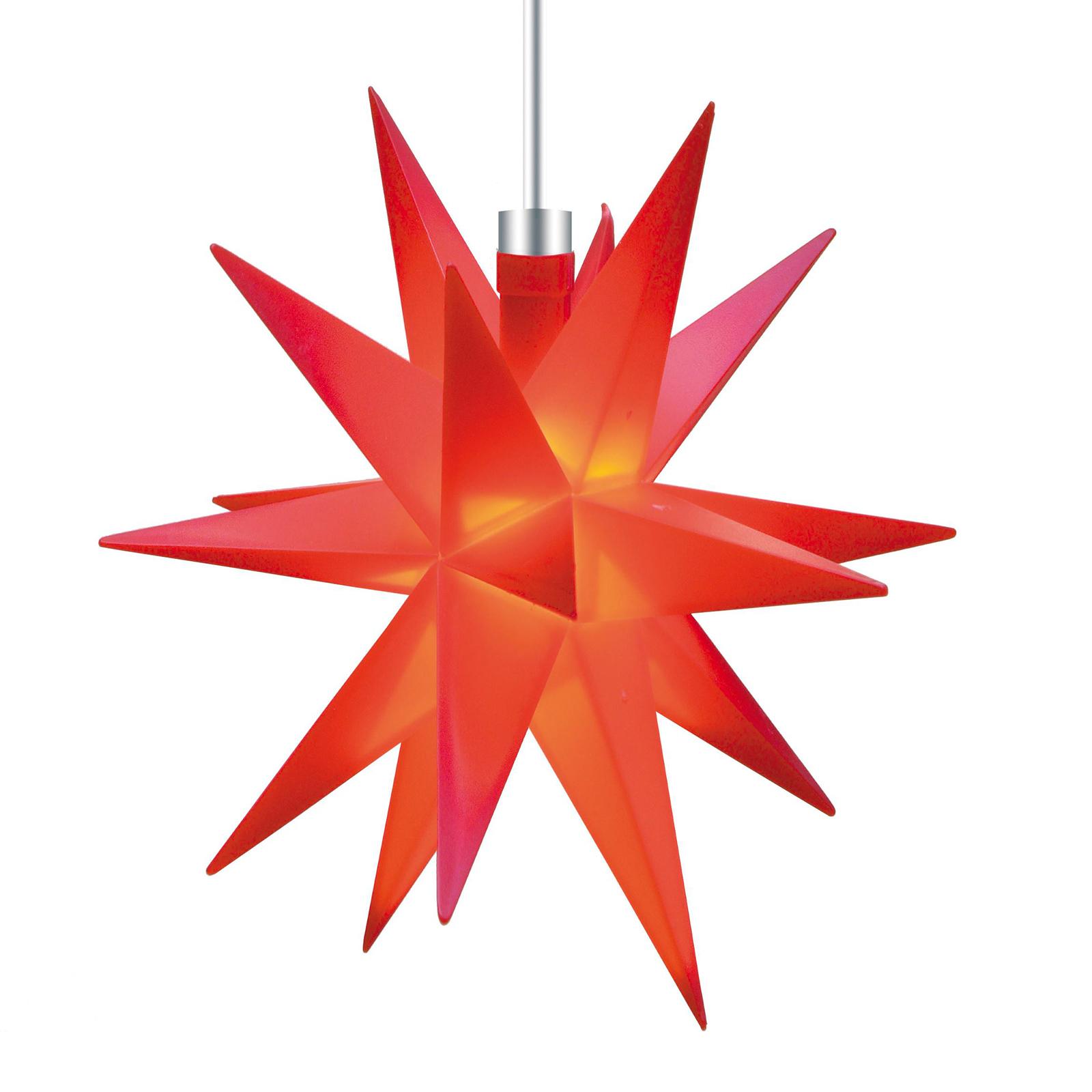 Heminredning - 18-uddig stjärna Ø 12 cm röd