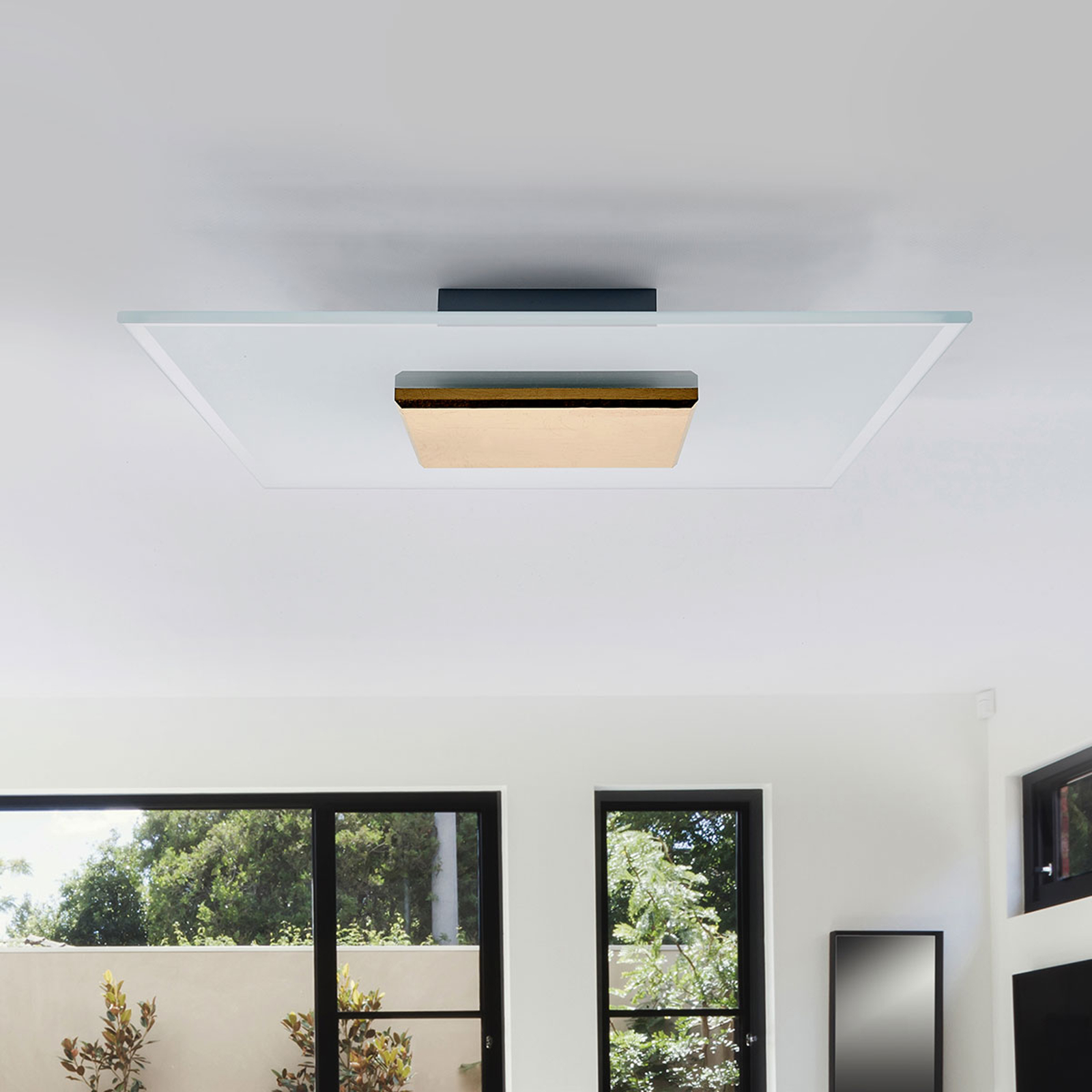 LED-plafondlamp Lole goud 38 cm