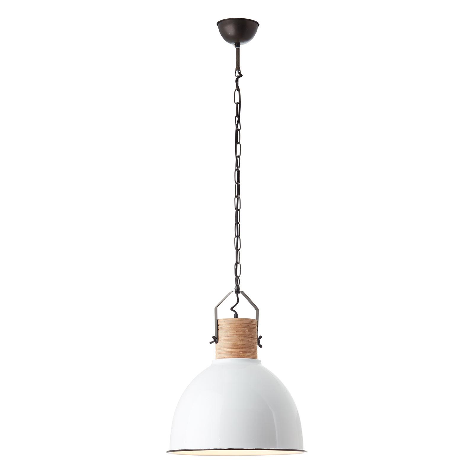 Hanglamp Barrow met houten fitting