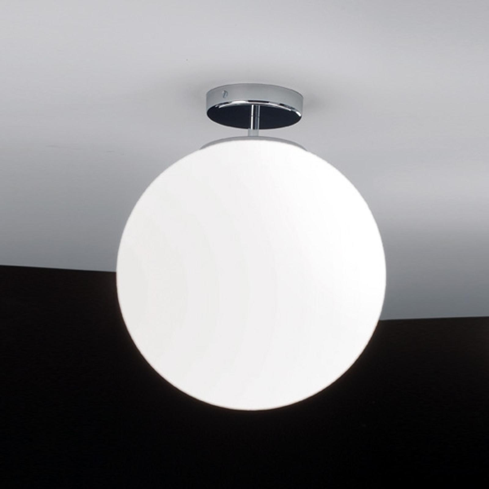 Szklana lampa sufitowa Sferis 30 cm chromowana