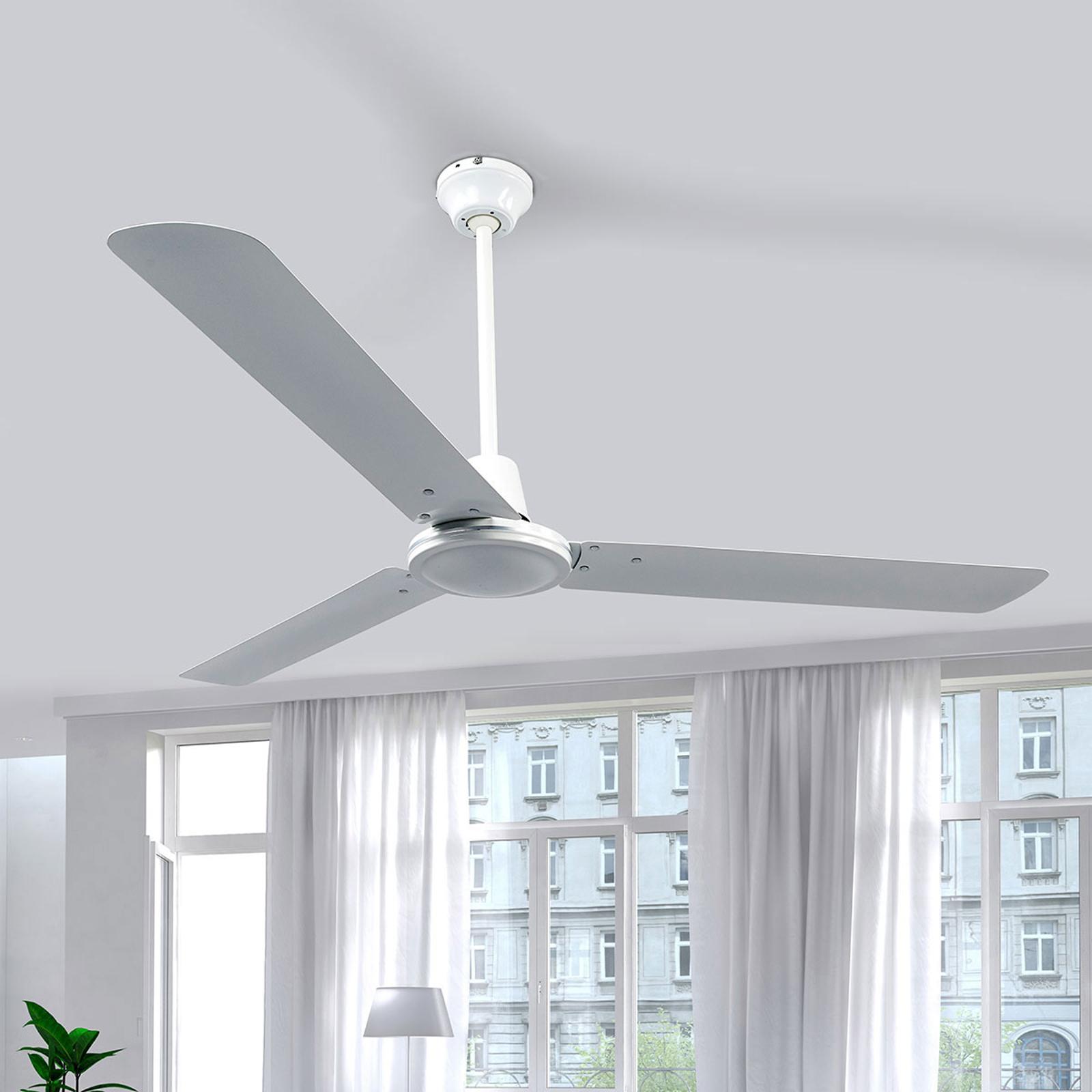 Witte plafondventilator Dawinja met 3 vleugels