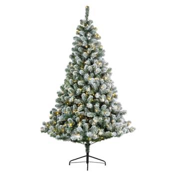 LED-träd Imperial för inomhus grön/vit snötäckt