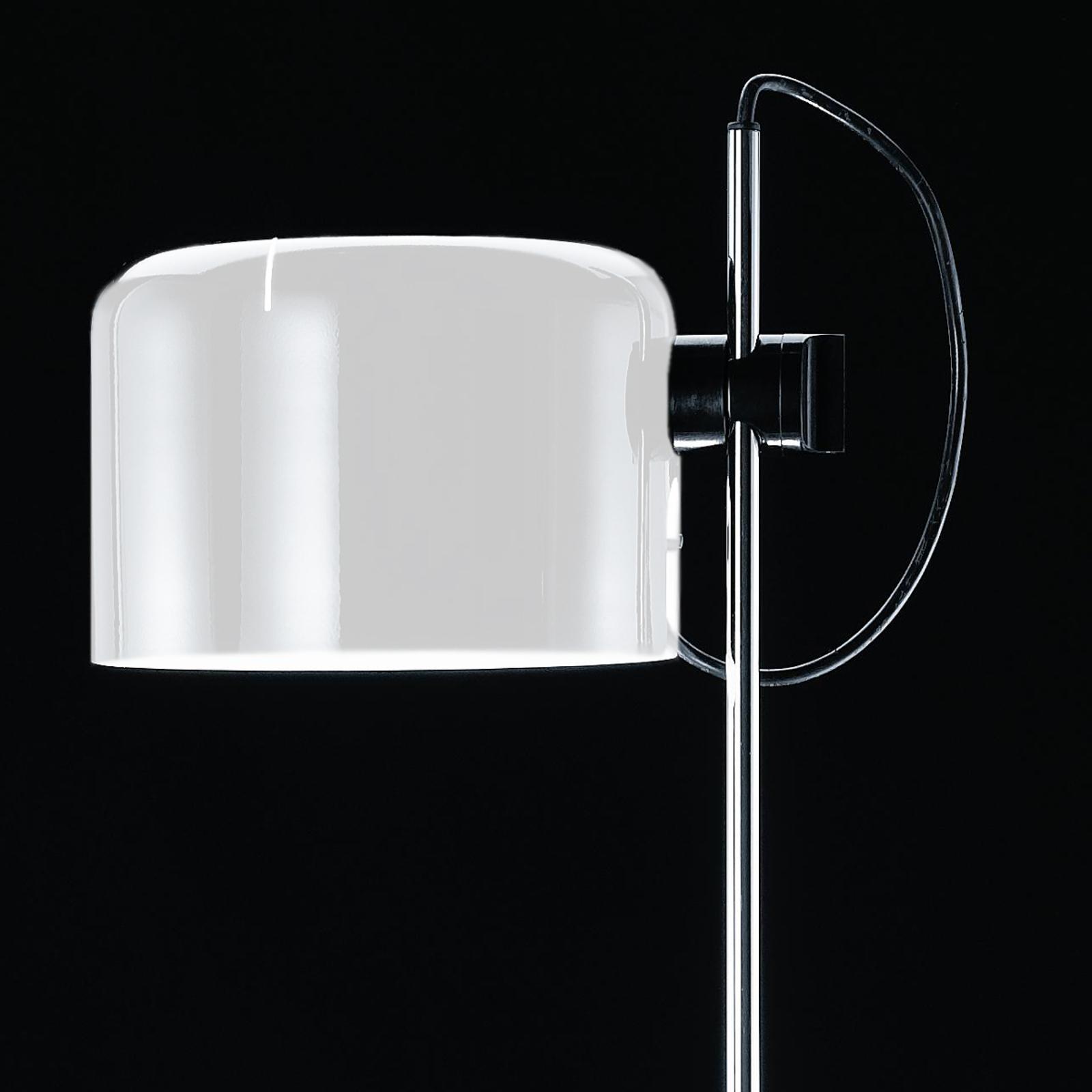 Ponadczasowa lampa stojąca COUPÉ, biała