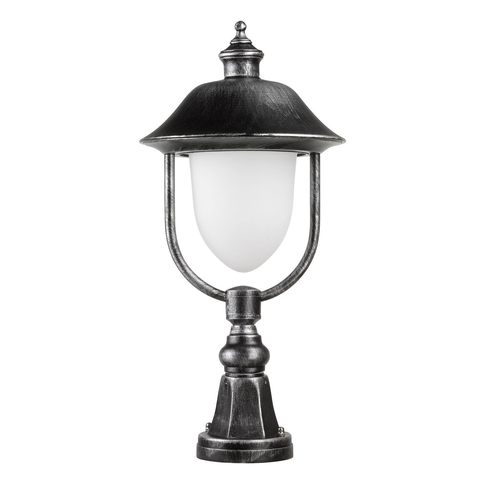Sokkellampe 1156, sort/sølv