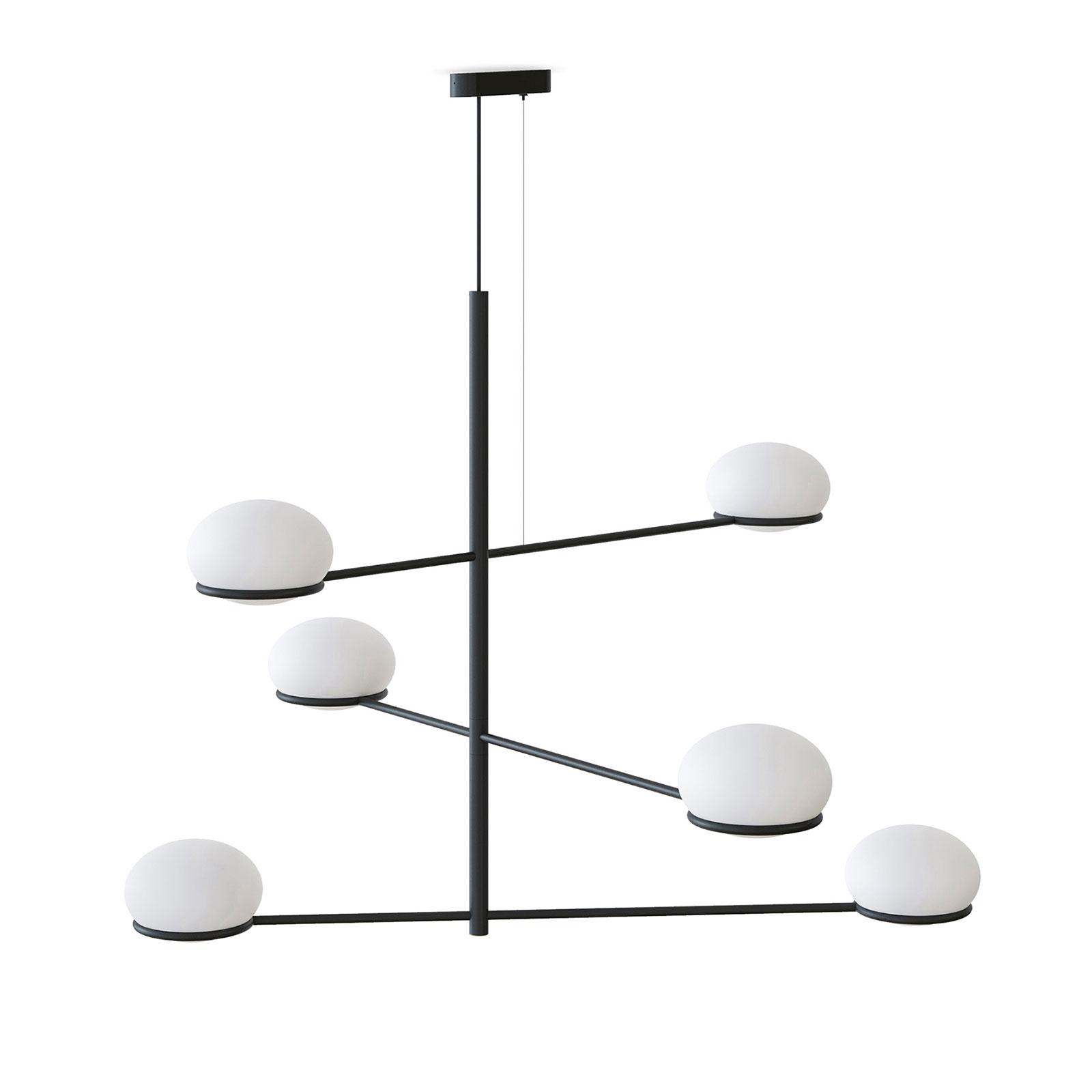 LEDS-C4 Coco Chandelier hængelampe, sort/hvid