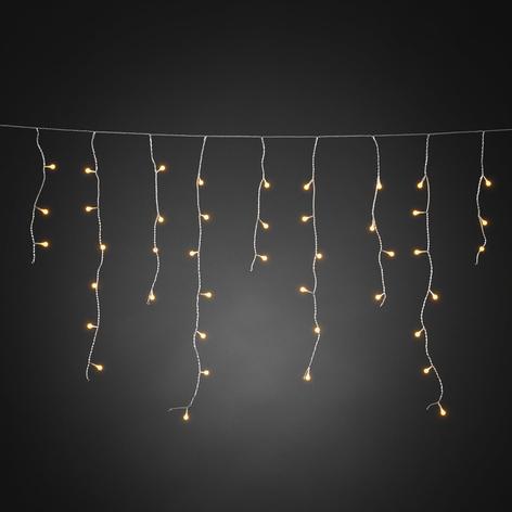 Cortina de luces LED lluvia helada ámbar trans.10m