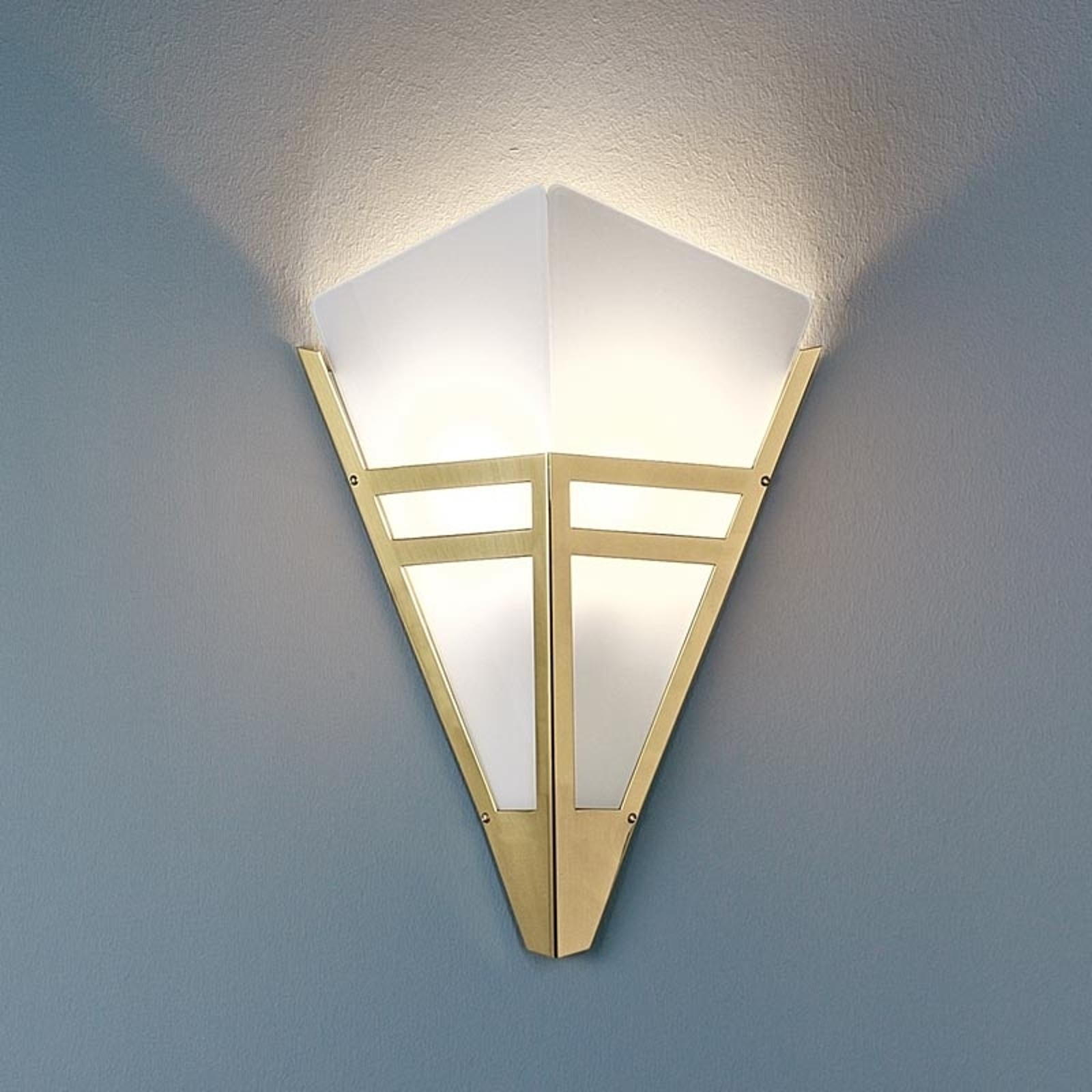 TECNOLUMEN Art Deco 1980 Wandleuchte messing