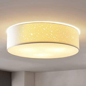 Deckenlampe Umma, direkt an der Decke, weiß