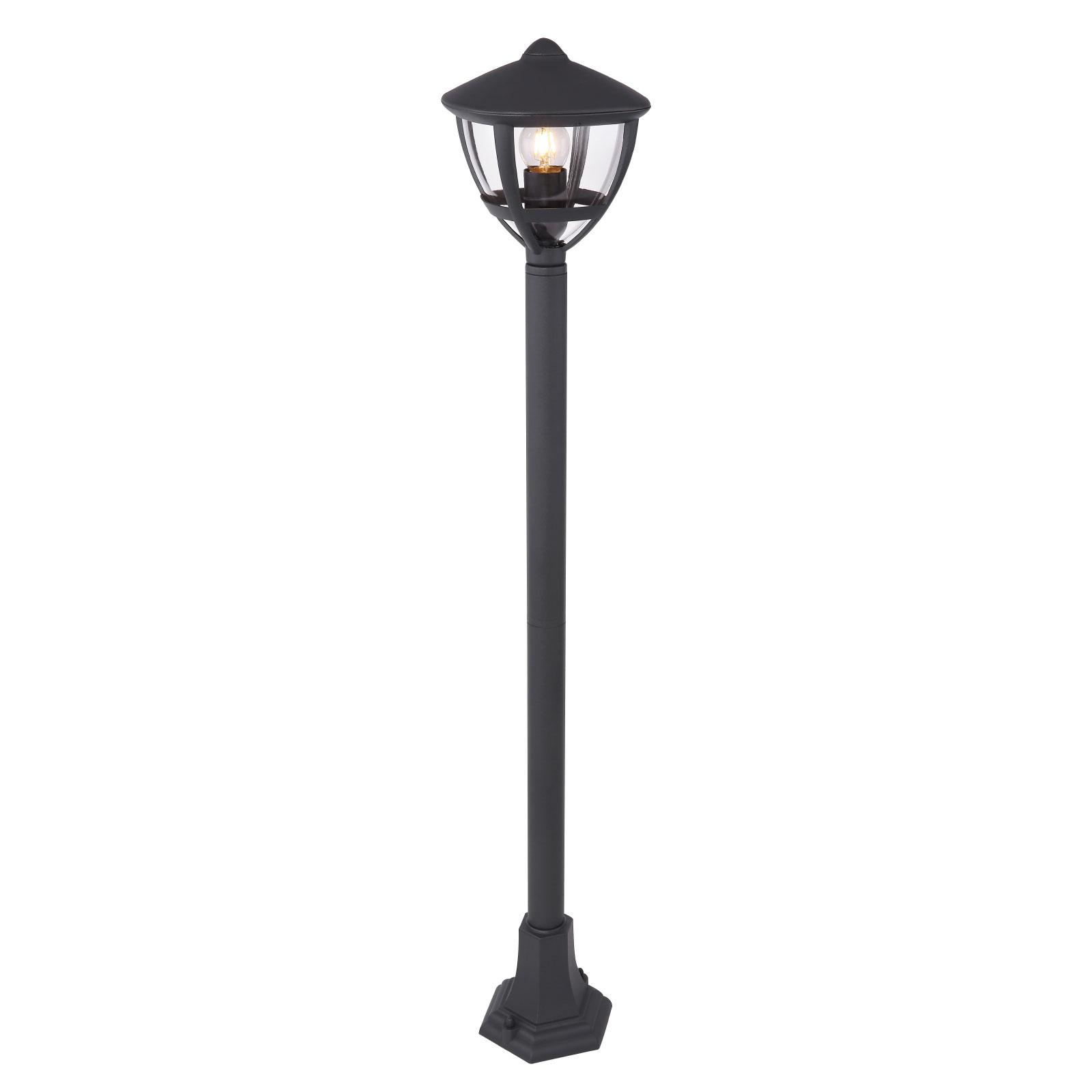 Słupek oświetleniowy Nollo w formie latarni czarny