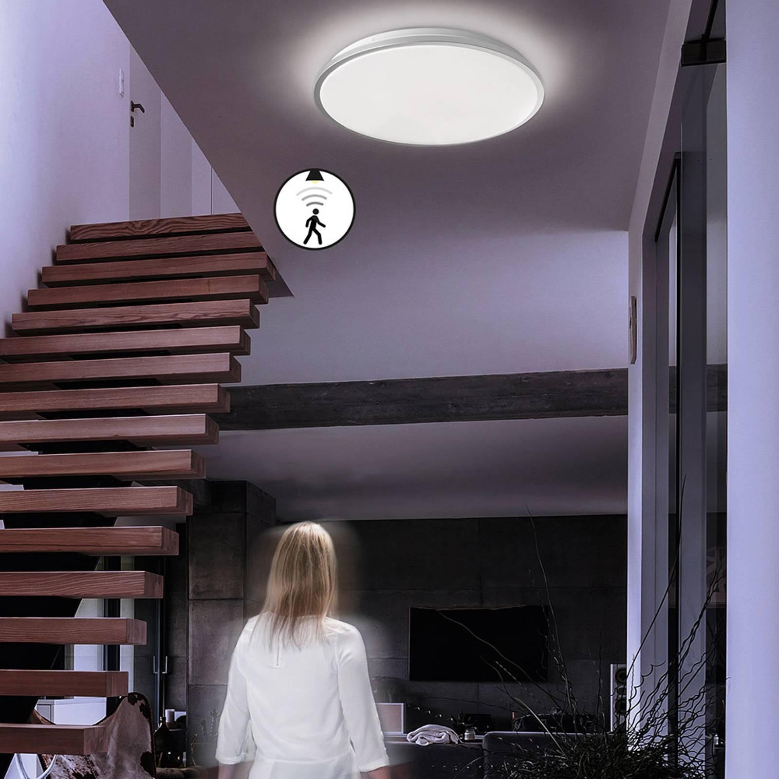 Lampa sufitowa LED Jaso BS, Ø 49 cm srebrna