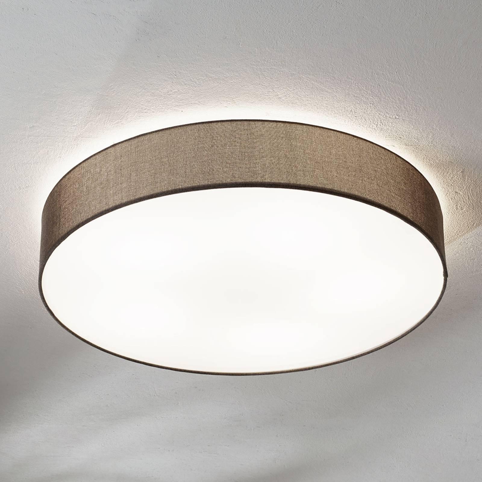 Bruine textiel plafondlamp Pasteri 76 cm