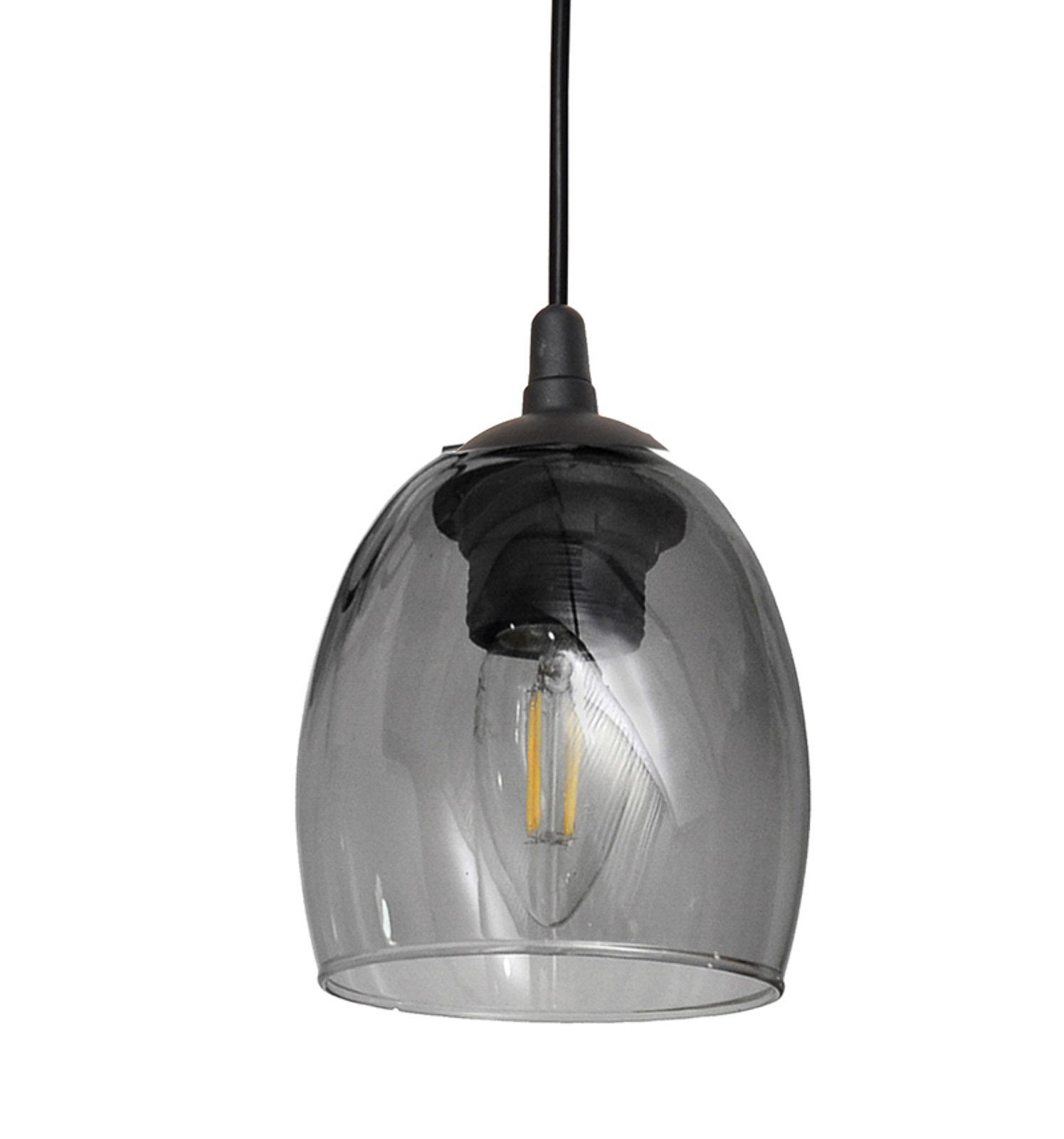 Lampa wisząca Brilliant szklany klosz smoke