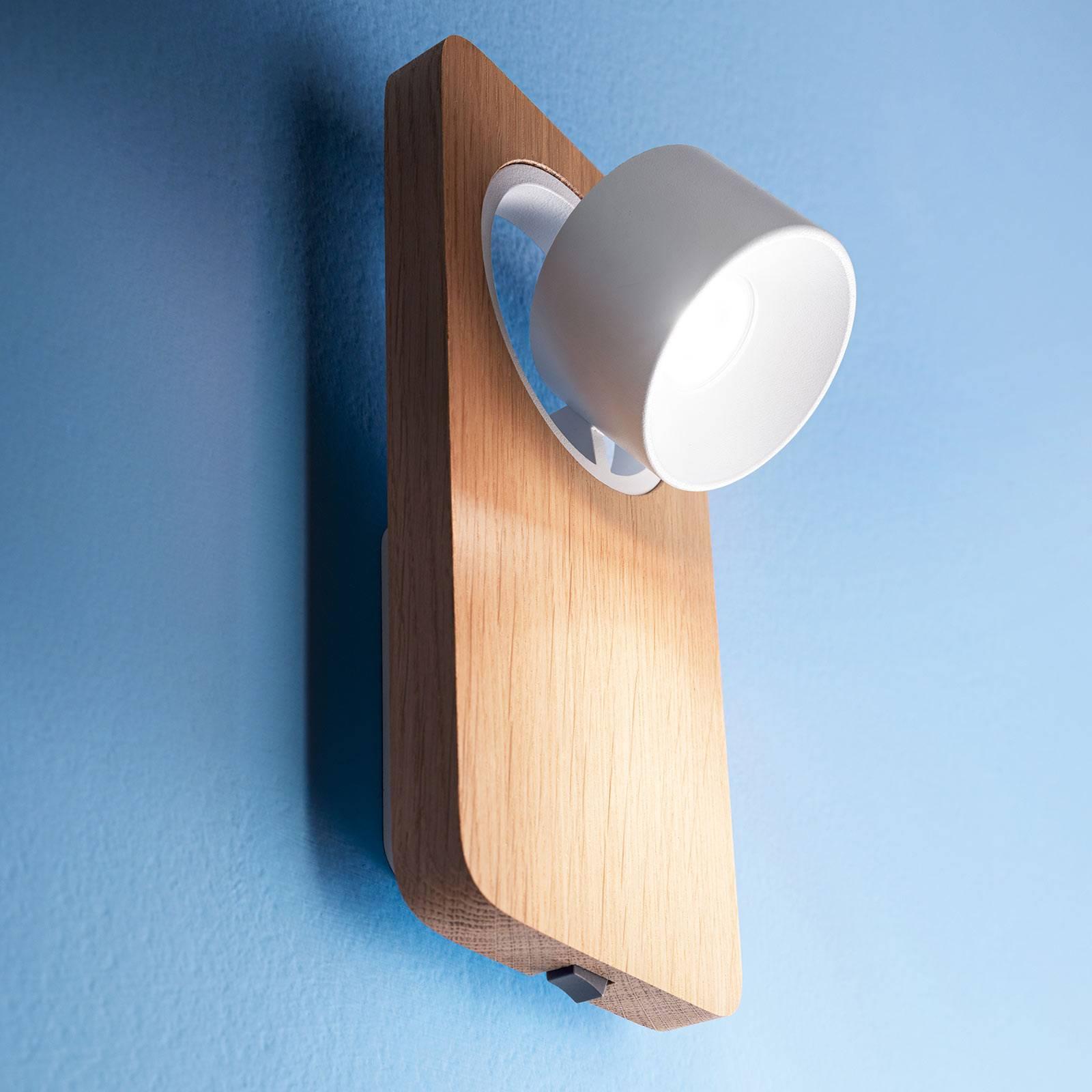 LED-Wandleuchte Beebo W, Eiche