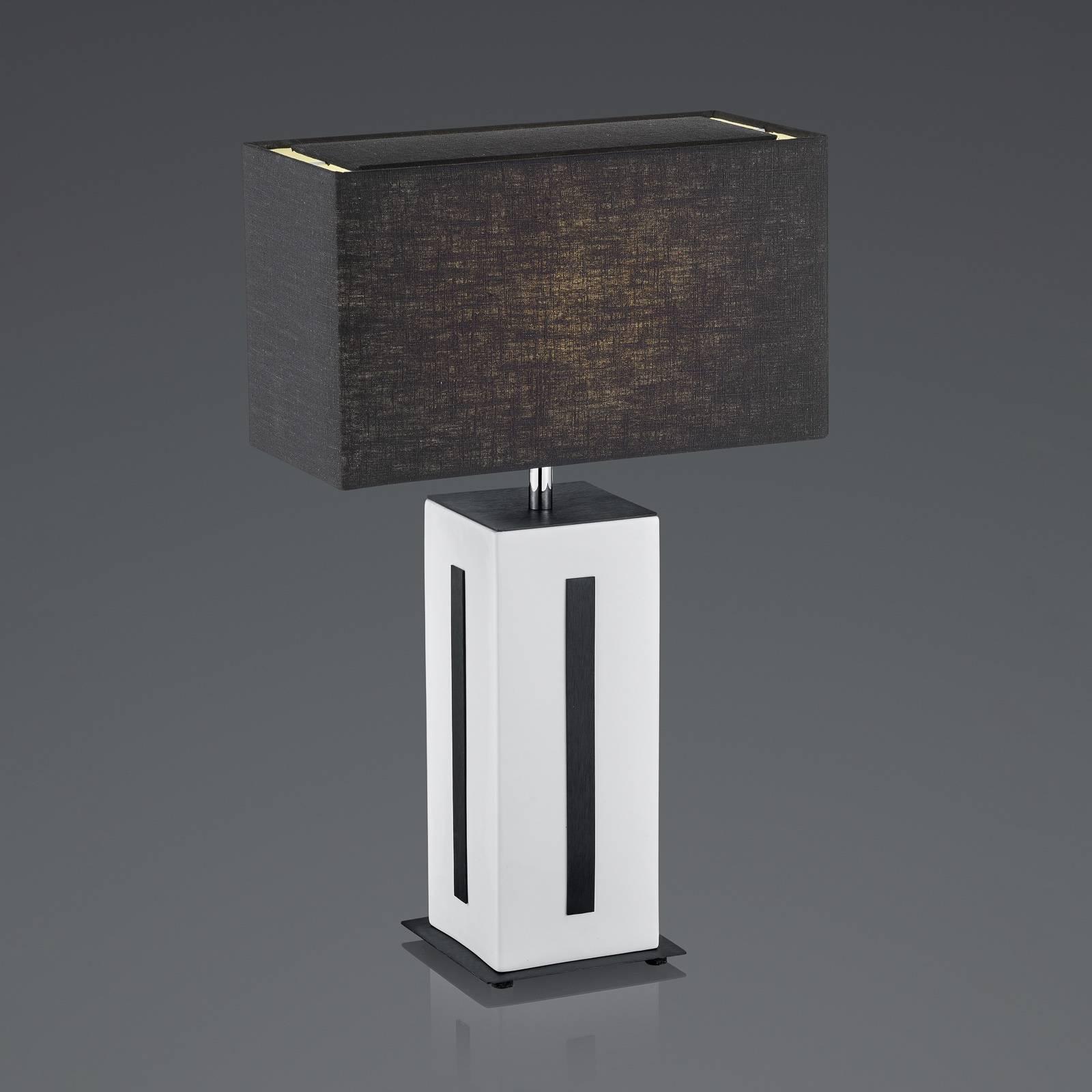 BANKAMP Karlo lampe à poser blanche/noire, H56cm