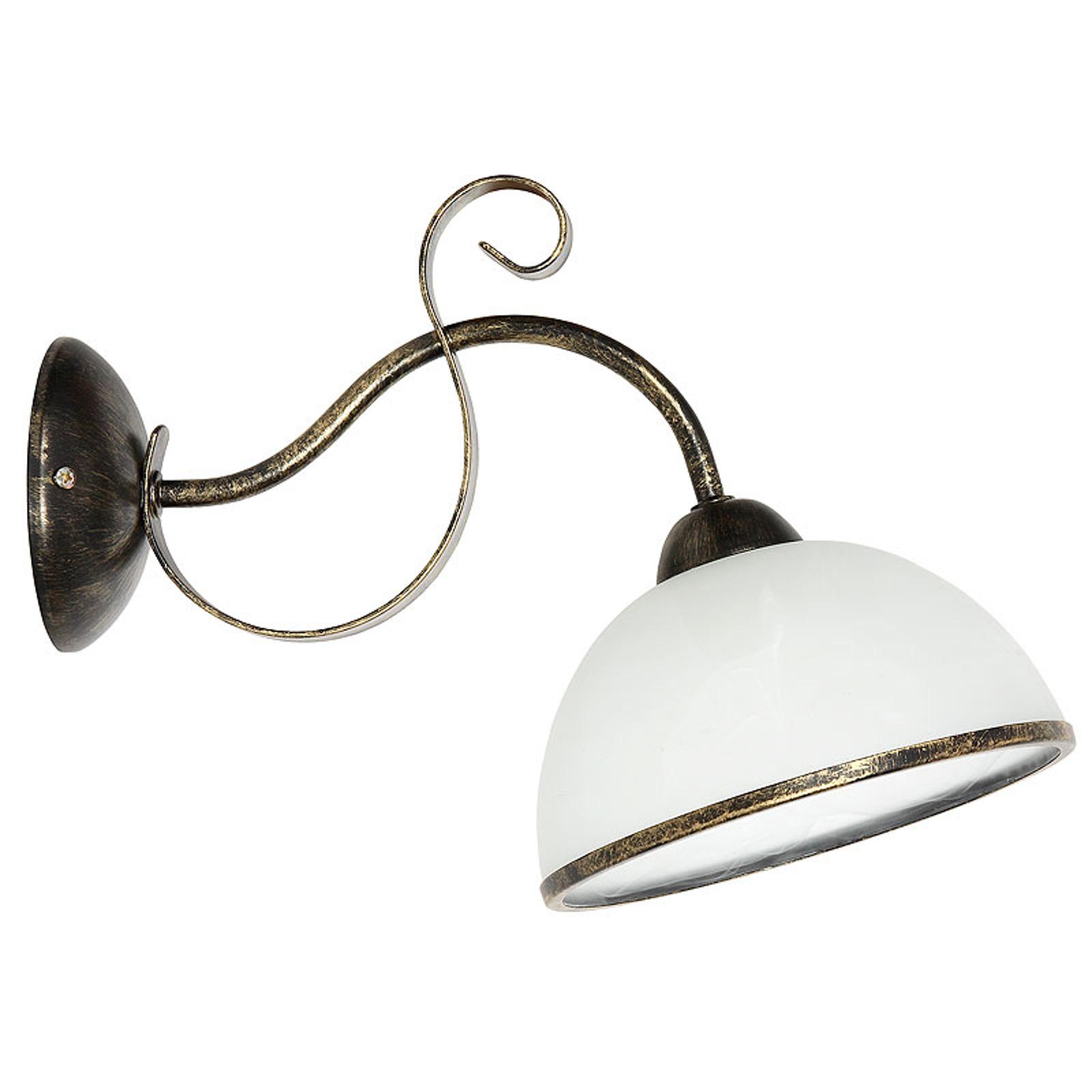 Lampa ścienna Antica w stylu wiejskim, 1-punktowa