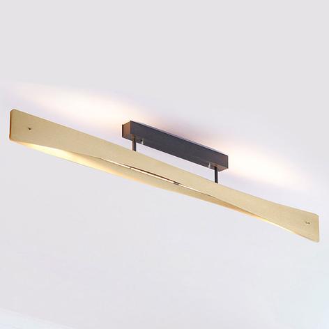 Lucande Lian lámpara LED de techo, latón, negro