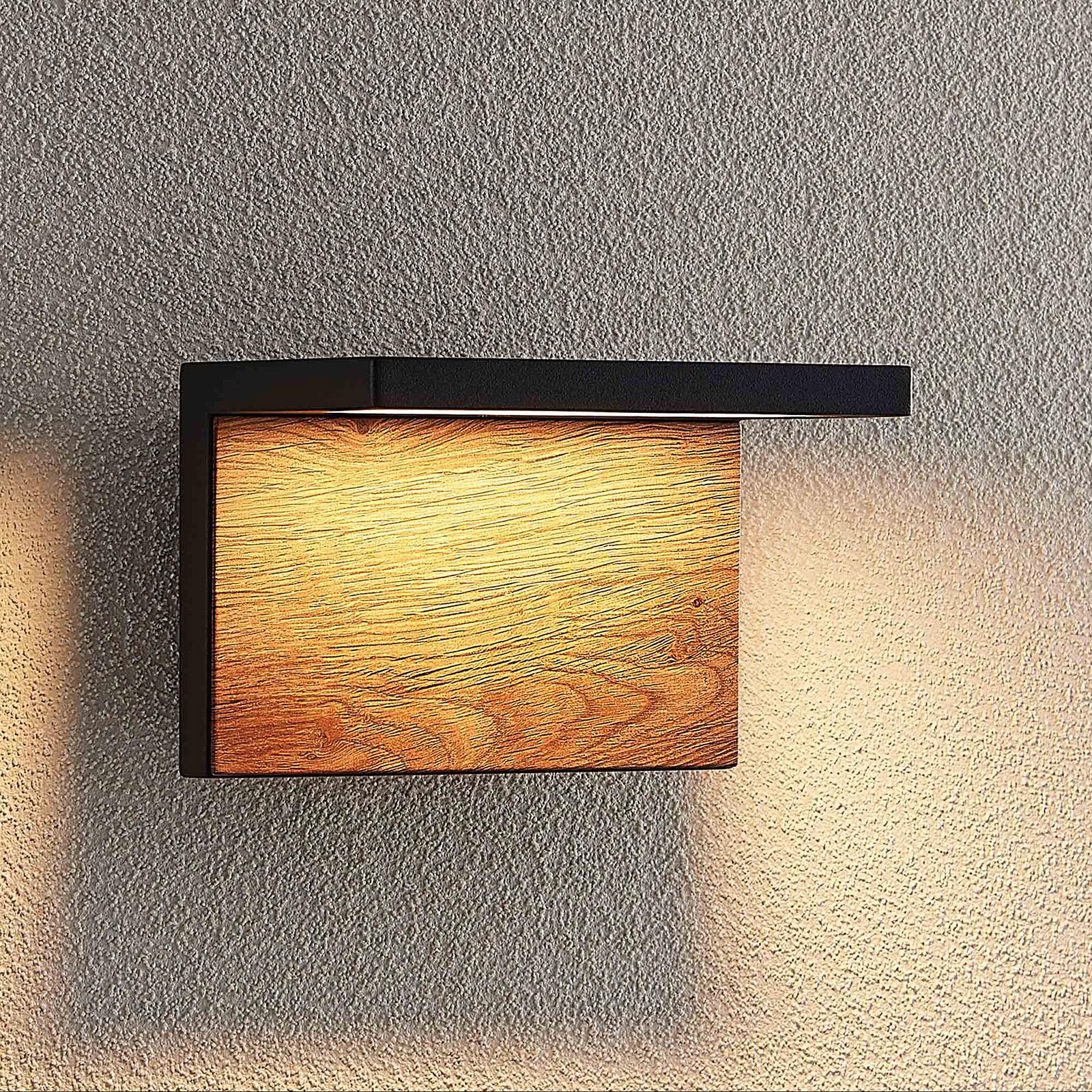 Lucande Lingus utendørs LED-vegglampe