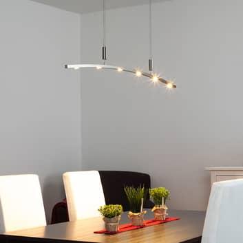Geschwungene LED-Hängeleuchte Falo, höhenverst.