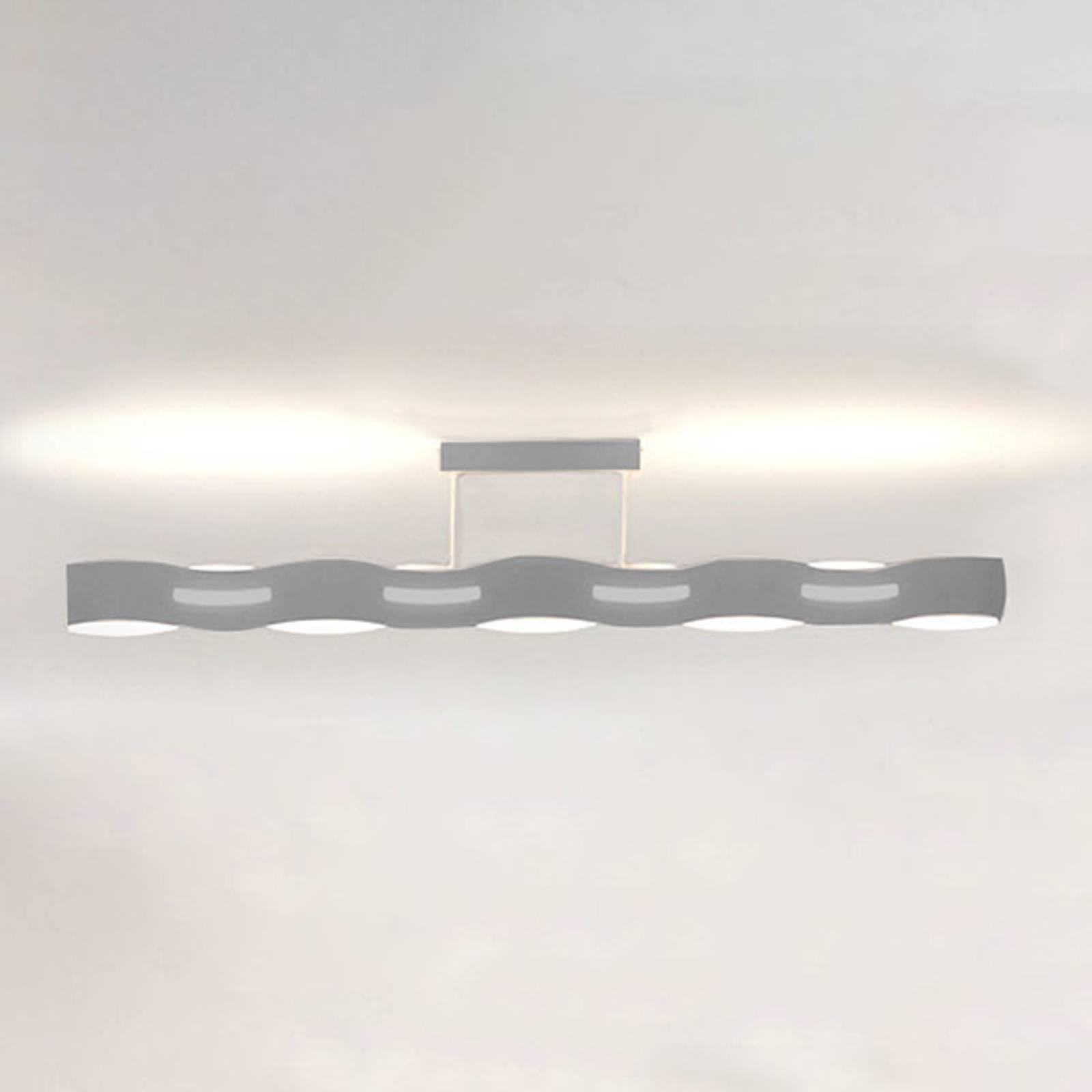 Lampa sufitowa LED Wave nikiel