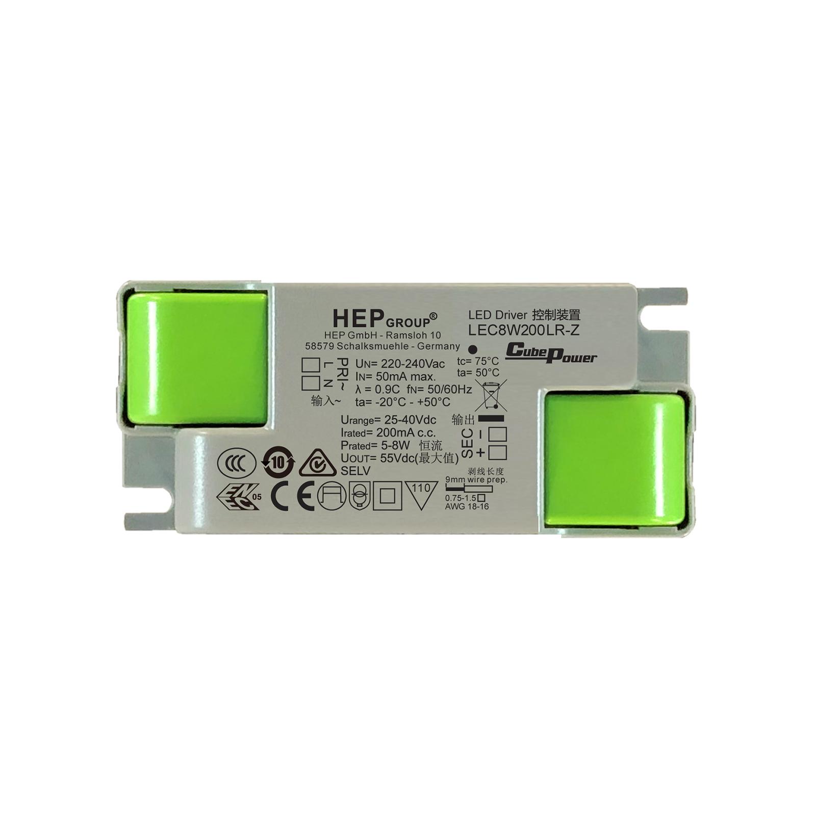 LED-driver LEC, 8 W, 200 mA, CC