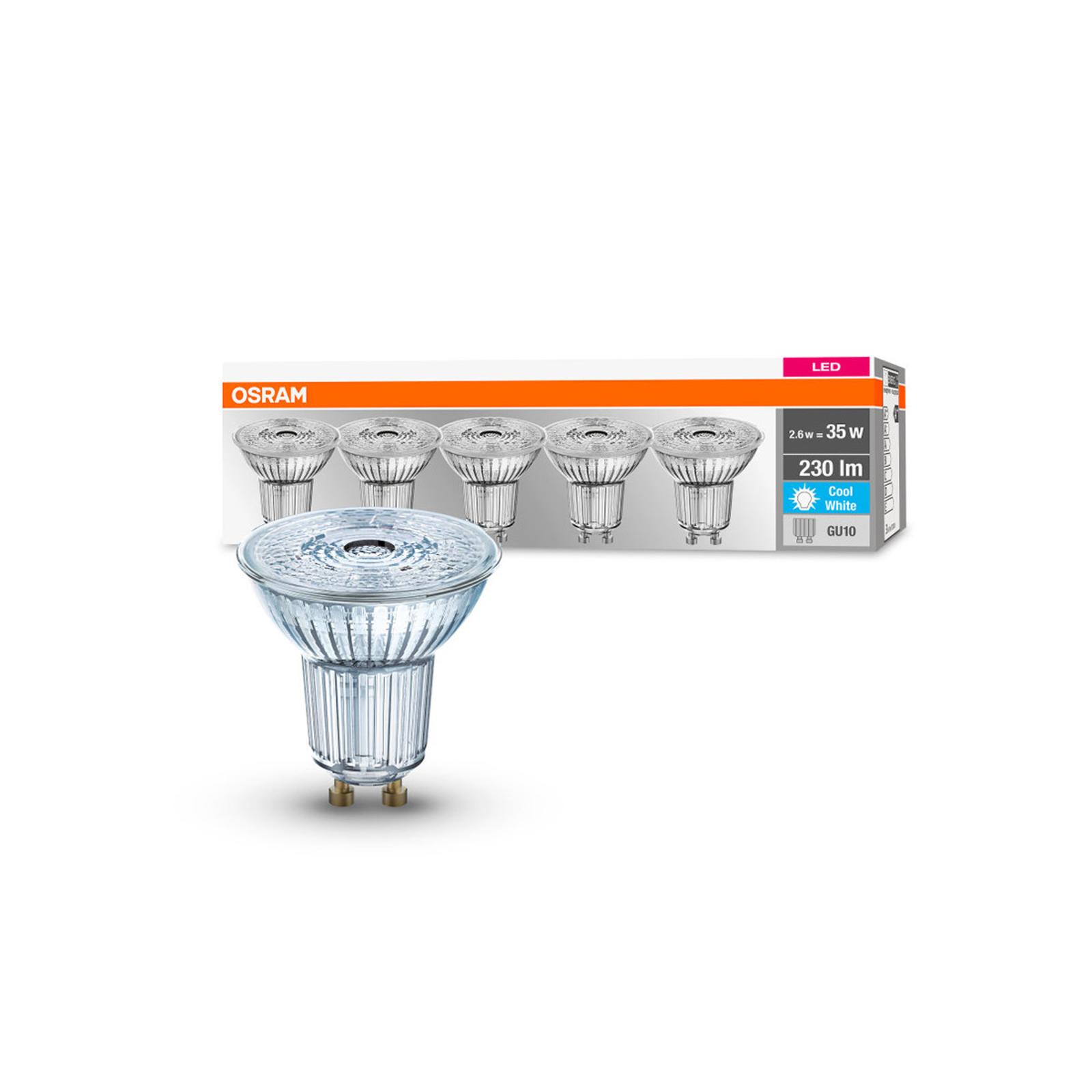 OSRAM LED-reflektor GU10 2,6W 4000K 230lm 36° 5er