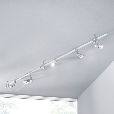 Dæmpbar LED-skinnespot Marwa, 5 lyskilder