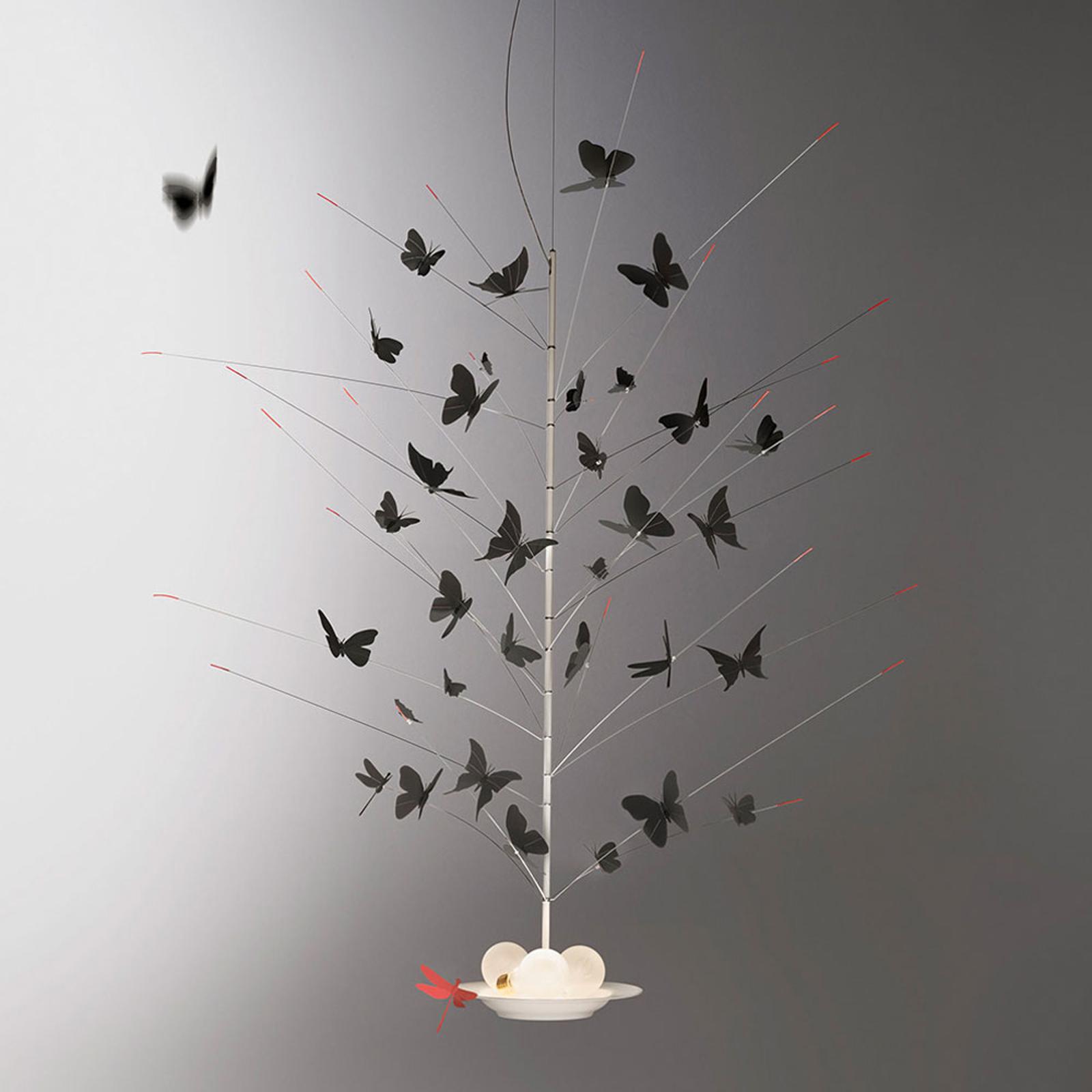 Ingo Maurer sett med sommerfugler, svart