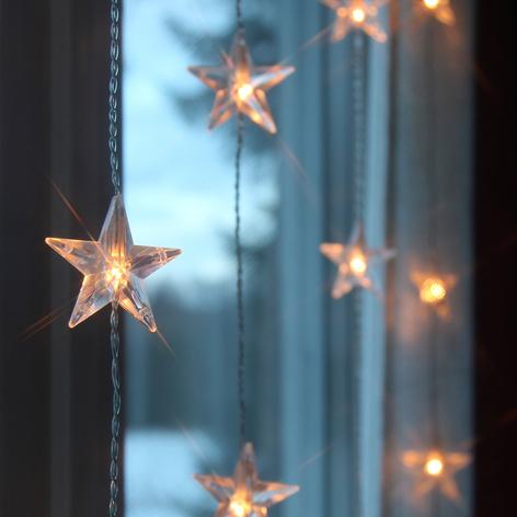 200 cm høj LED-lysgardin Star 50 lysk.