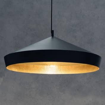 Beat Flat – czarna lampa wisząca z mosiądzu