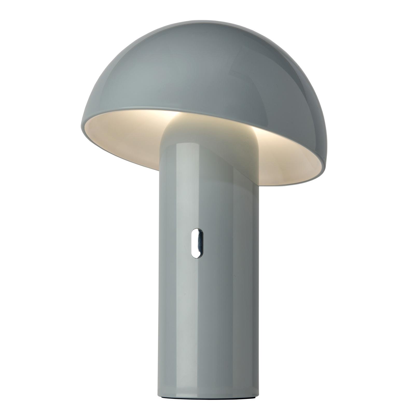 LED-Tischleuchte Svamp mit Akku, drehbar, grau