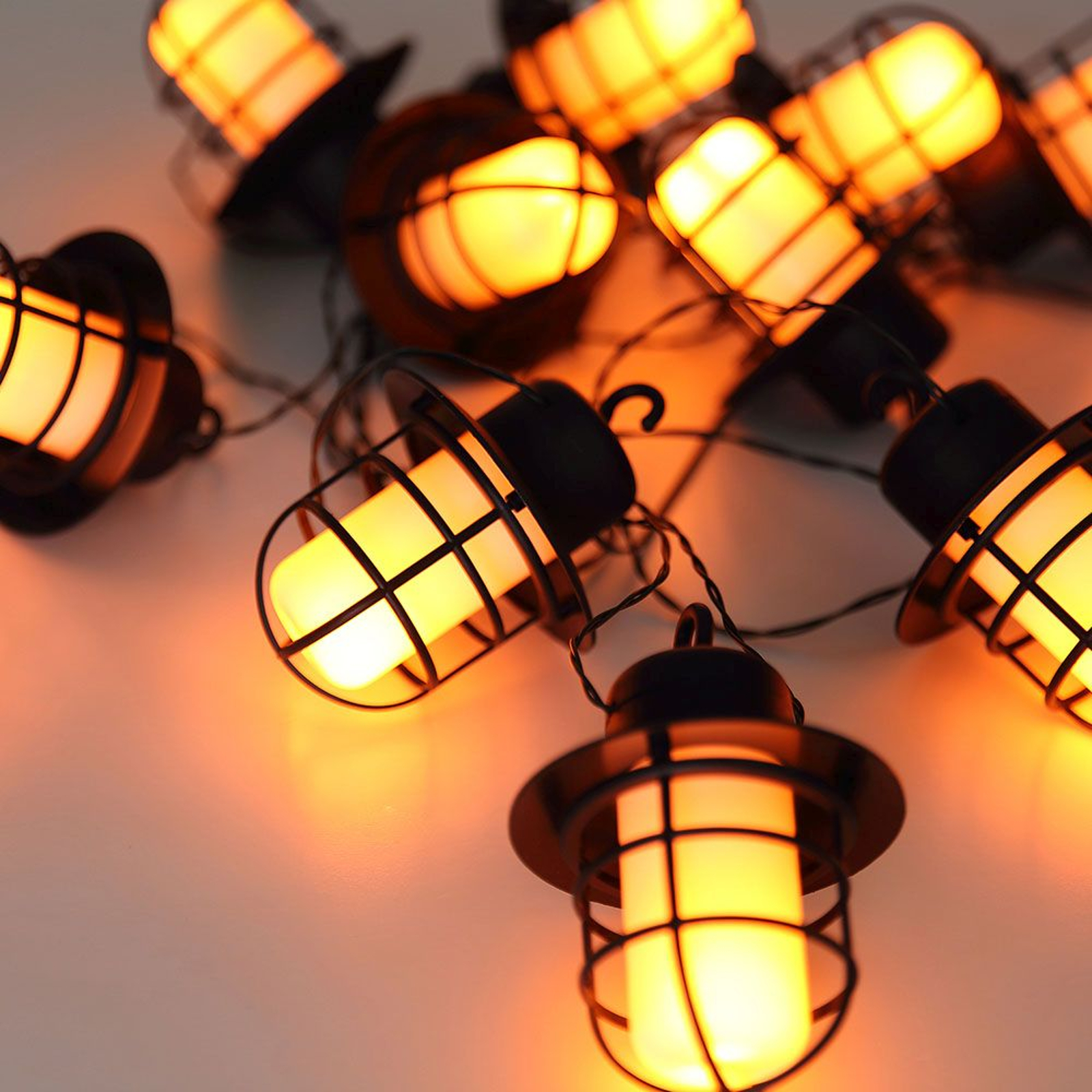 LED-solar-lichtketting 33059F met 10 lantaarns
