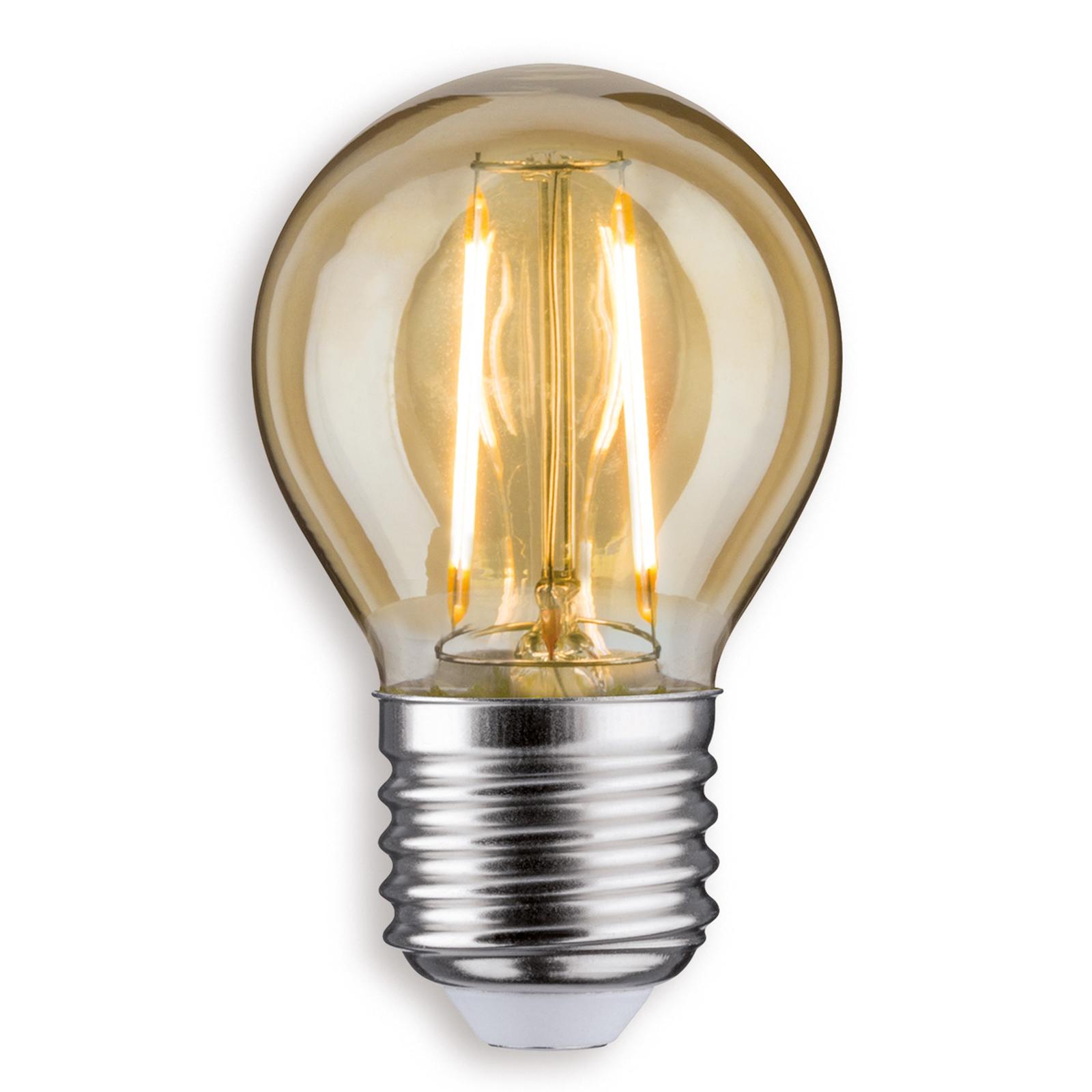 E27 2,5W 825 LED-dråpelampe gull
