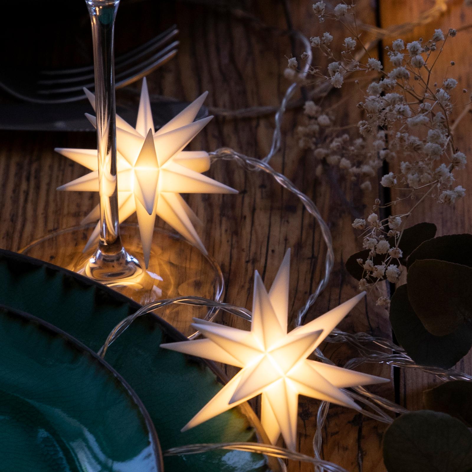 LED-lyskæde, babystjerner, ude, 9 lyskilder