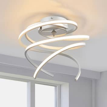 Lampa sufitowa LED Lungo aluminium, wysokość 25 cm