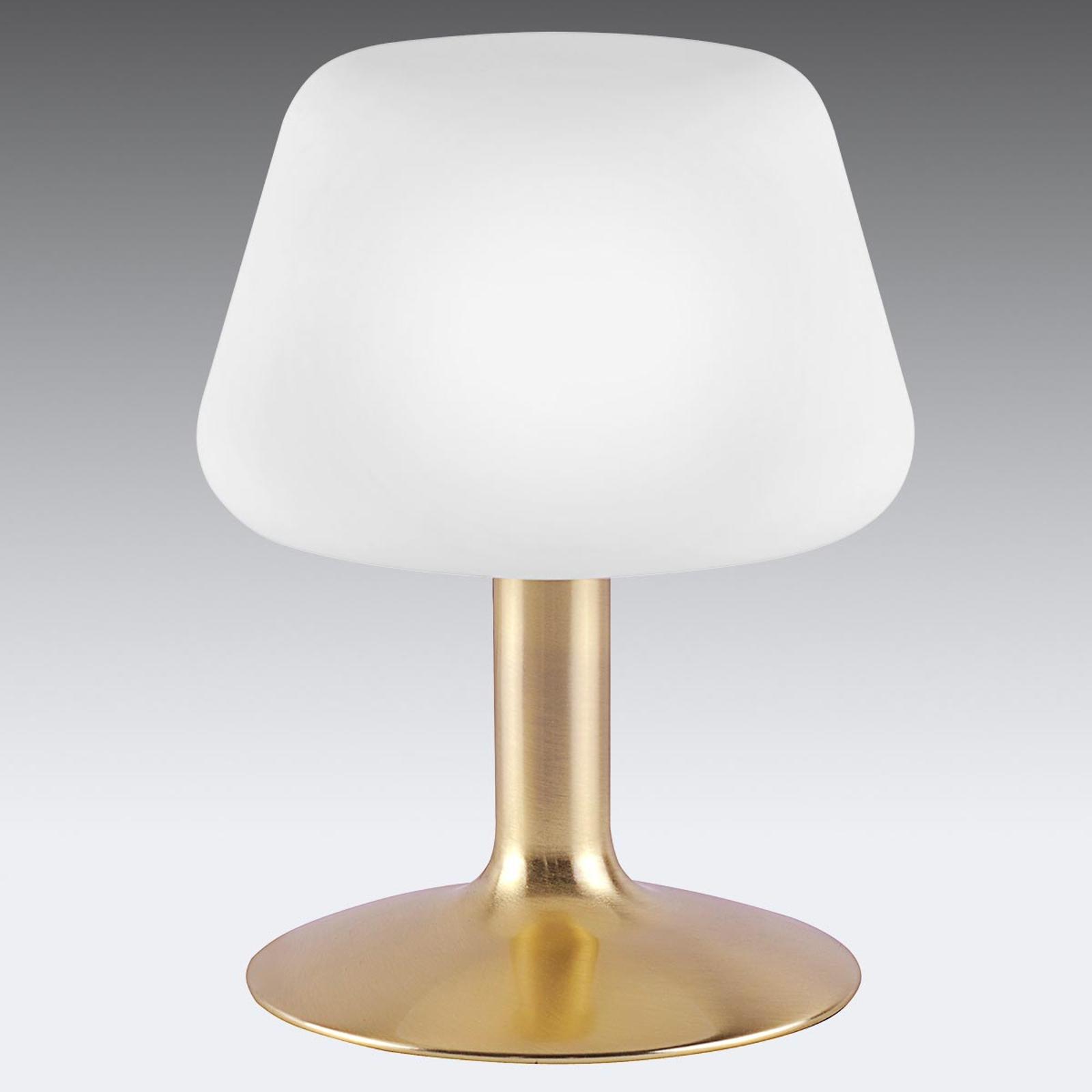 Till - kleine LED-Tischlampe mit Messingfuß