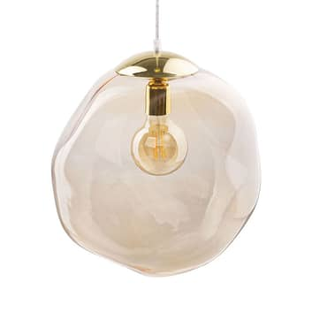 Glas-Hängeleuchte Sol, Ø 35cm, gold/bernstein