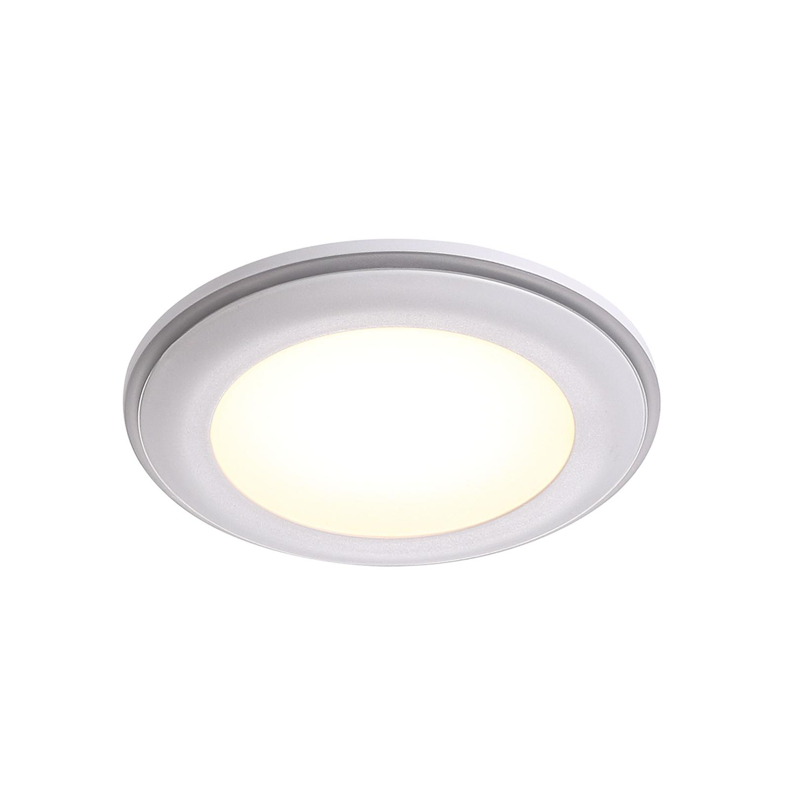 Lampa sufitowa wpuszczana LED Elkton, Ø 8 cm