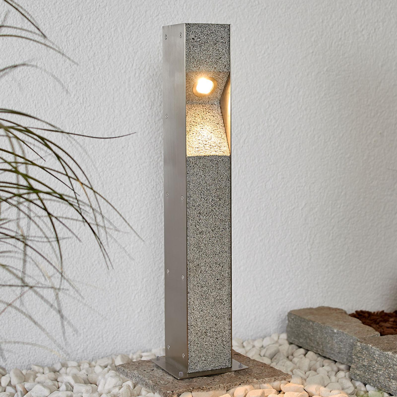 Słupek oświetleniowy LED Amelia z granitem, 60cm