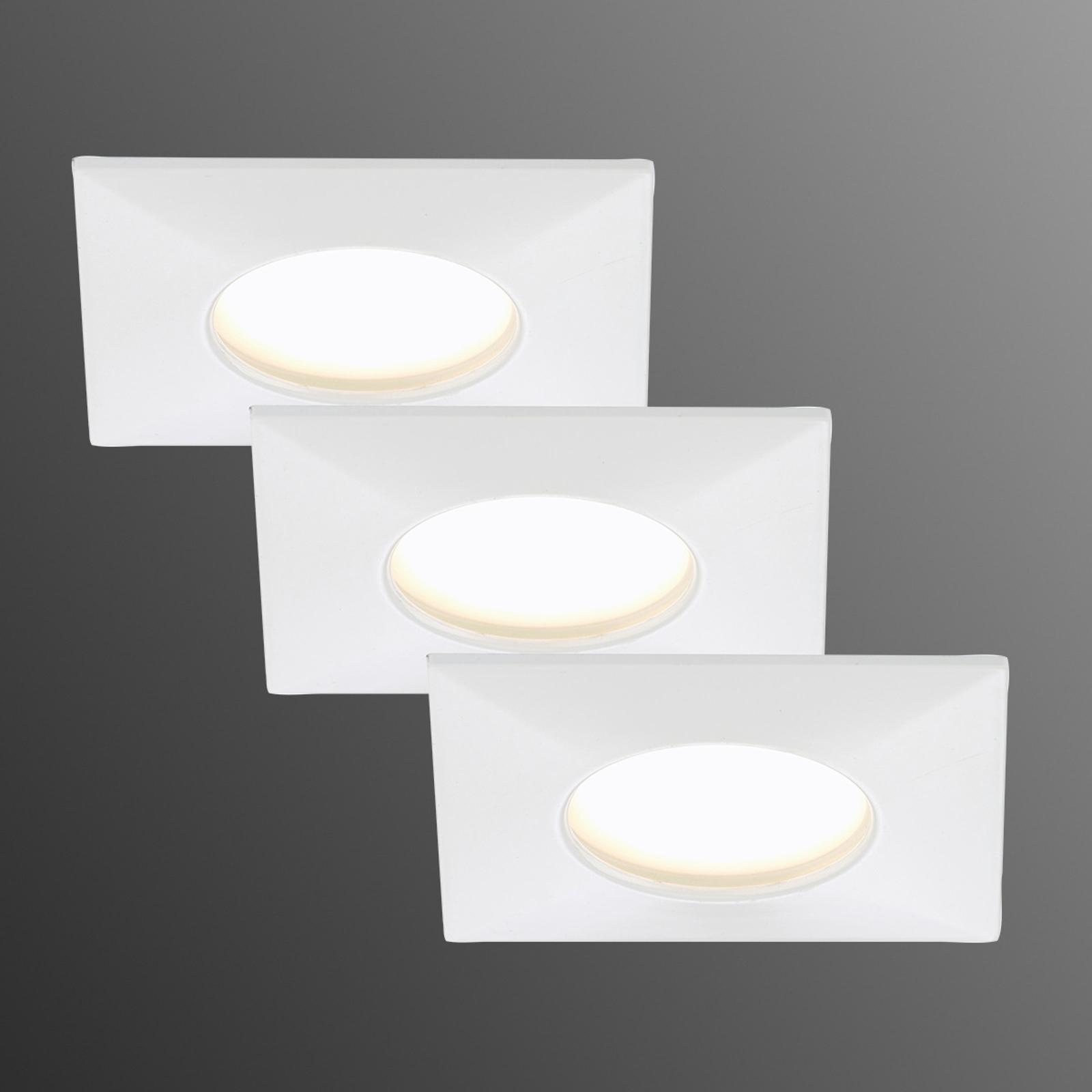 Reflektor wpuszczany LED Luca 3 szt. IP44 biały
