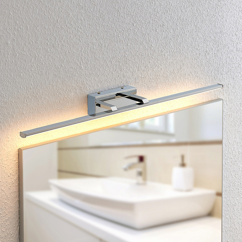 Lindby Eloni LED-væglampe til badeværelset, krom