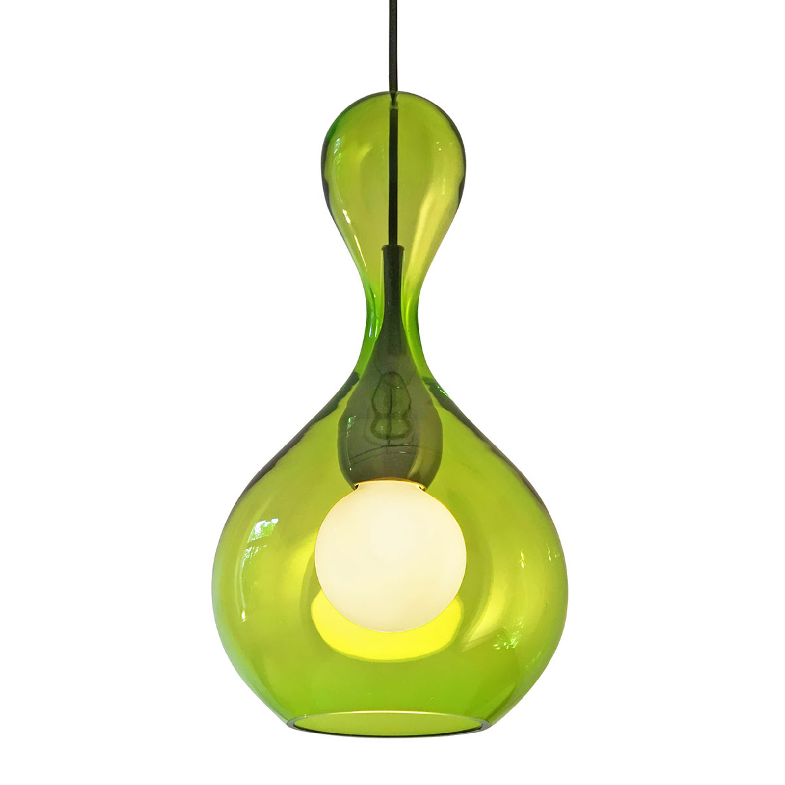 next Blubb - Hängeleuchte aus grünem Glas