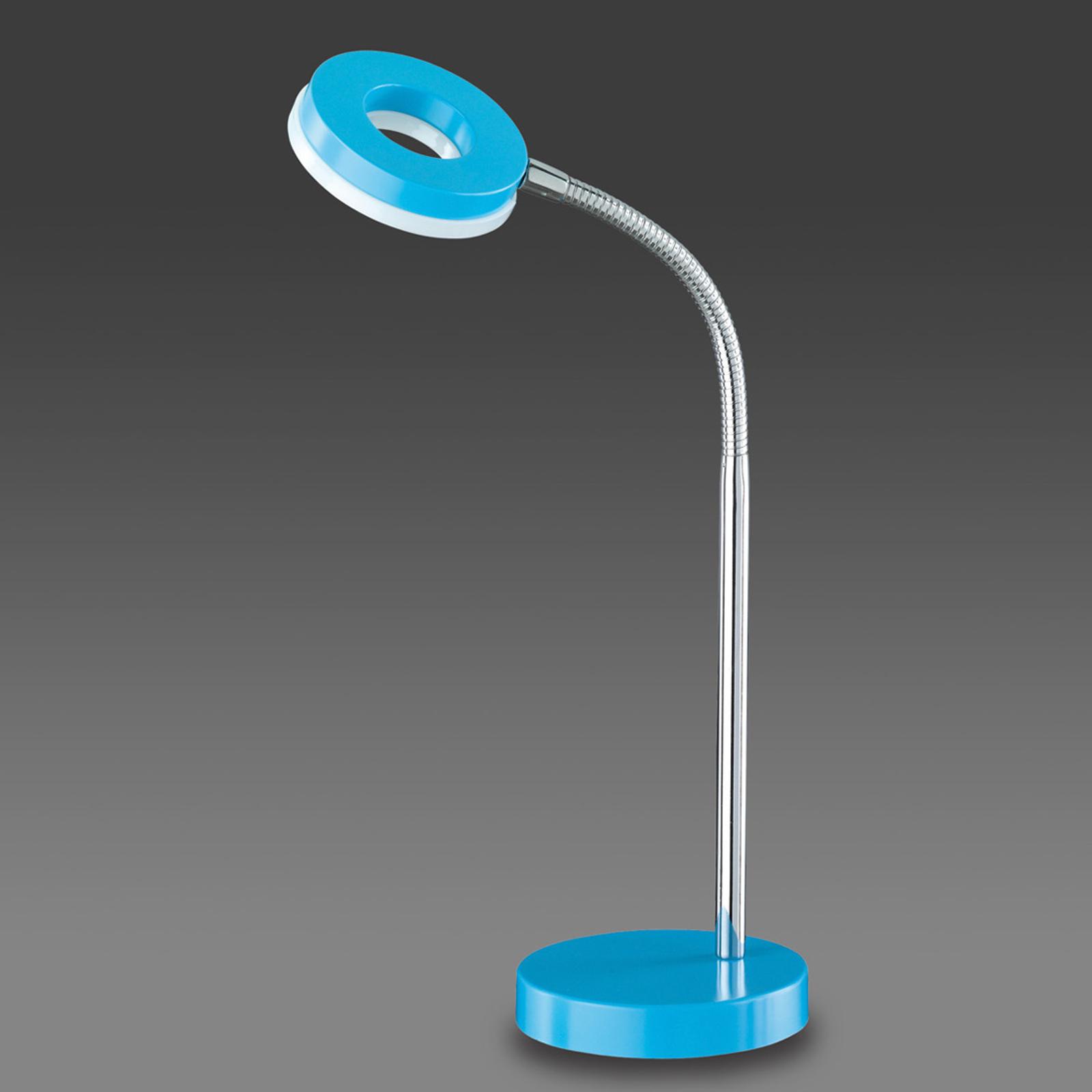 Blå LED-bordslampa Rennes